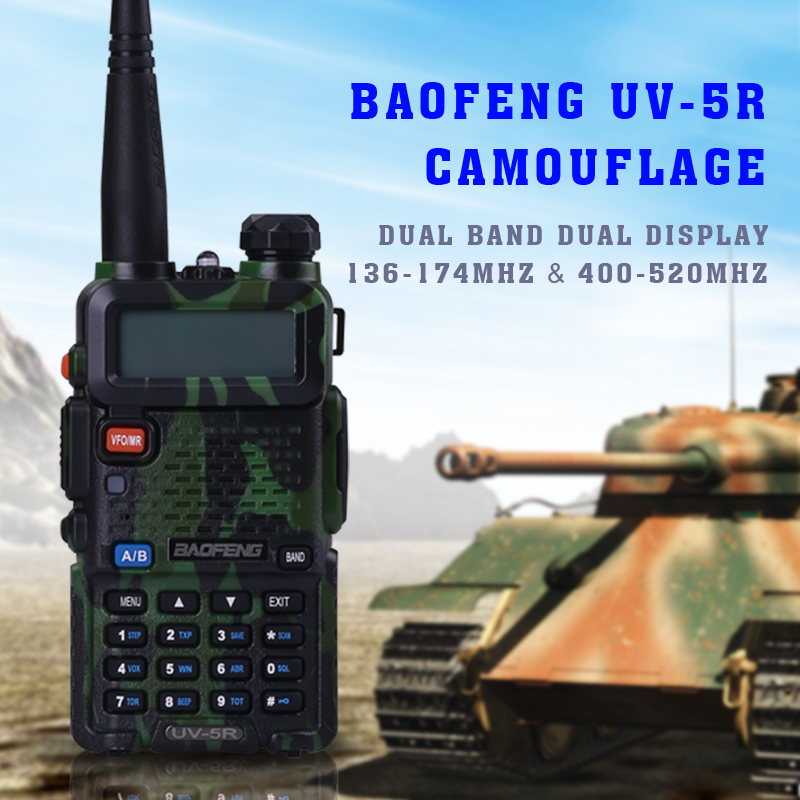 Baofeng wholesale UV 5R dual band UHF 400-520MHz and VHF 136-174MHz two way radio