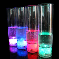 BHN056 Novelty Gift Party Product Water Liquid Activated LED Plastic Flash Glass