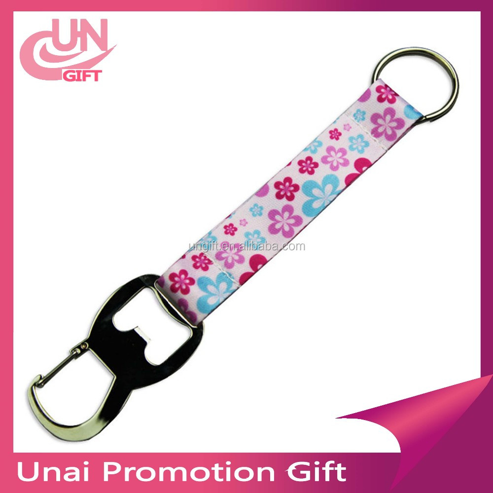 Cheap custom short lanyard print logo and bottle opener