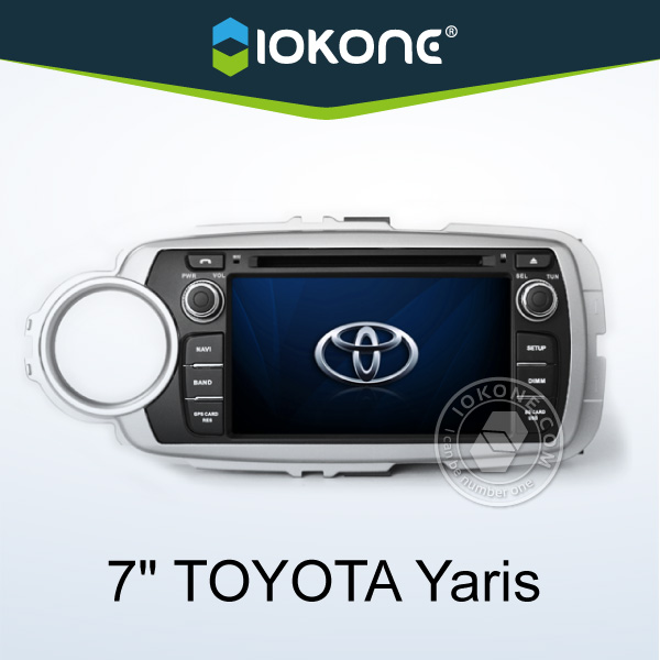 "2012 factory 7"" HD 2 din touch screen car dvd for toyota yaris with gps, TMC, camera, mic, dvb-t"
