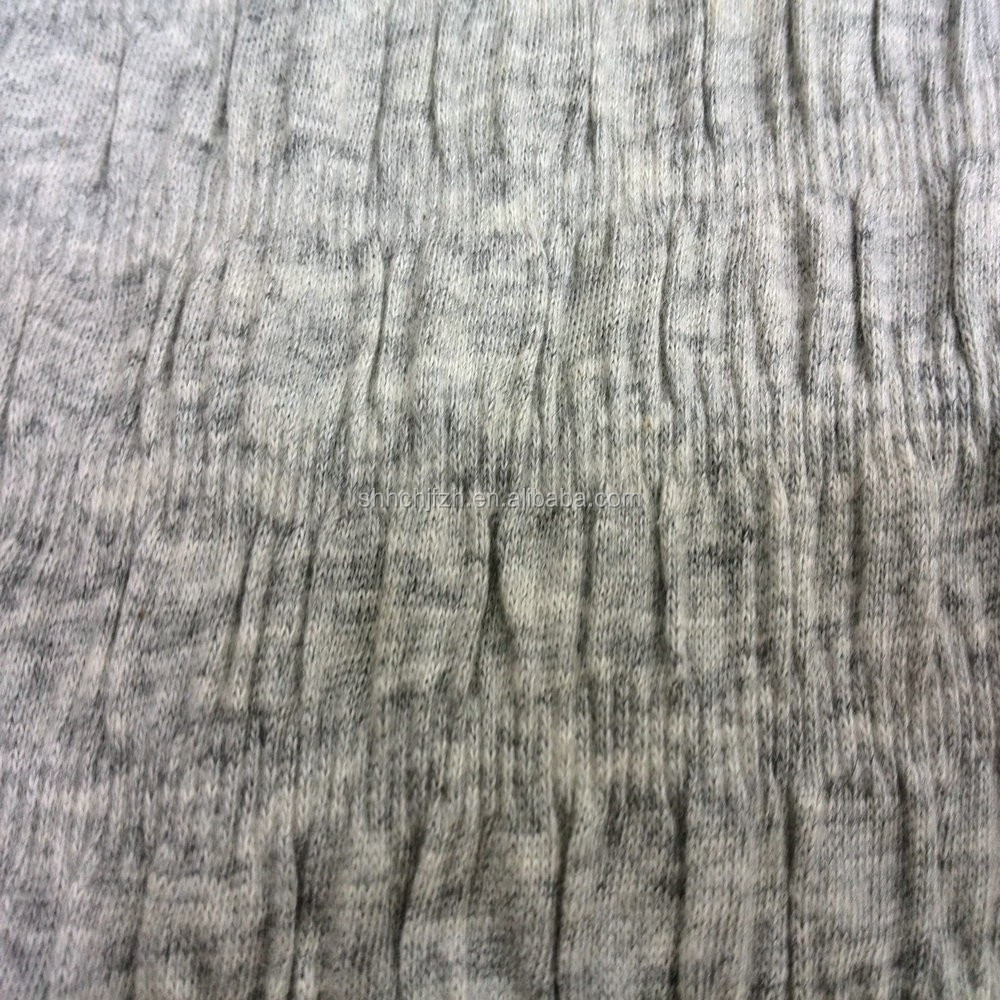 cotton stretched seersucker knit fabric