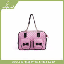 Buy Direct from China Teddy Dog Outdoor Handbags Luxury Pink Pu Pet Carrier
