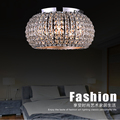 round crystal ceiling lamp