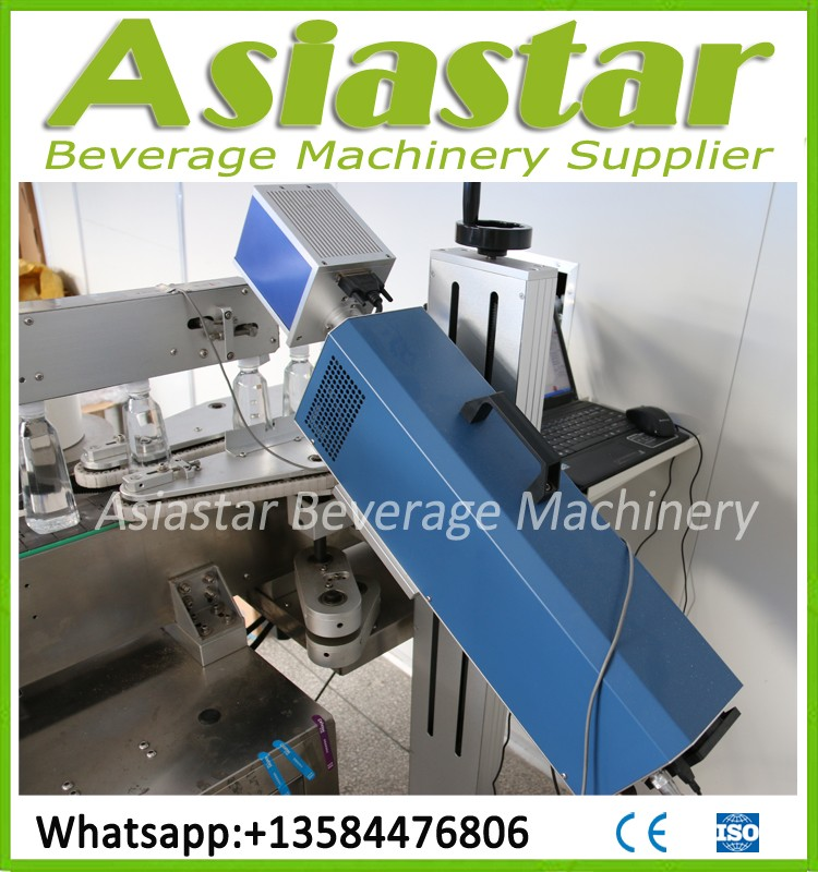 Glass bottle soda drink carbonated water making filling machine