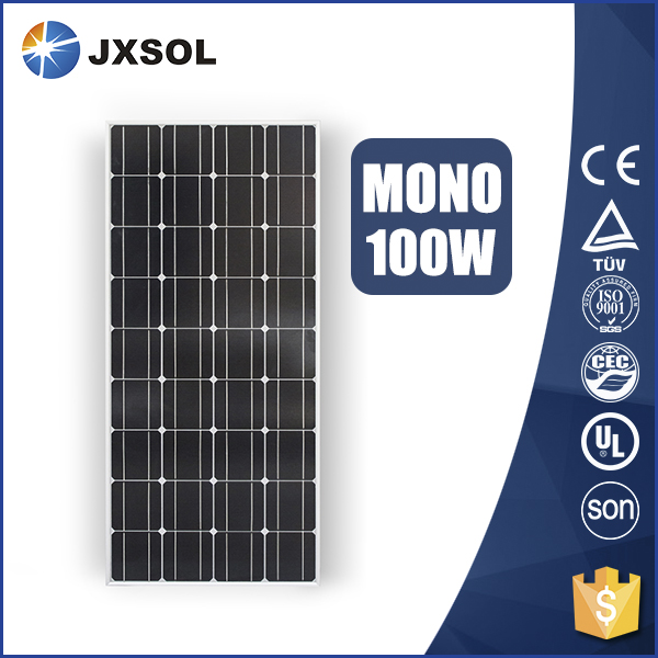 factory direct sale paneles solares mono 100 watt pv module with TUV CE certificates