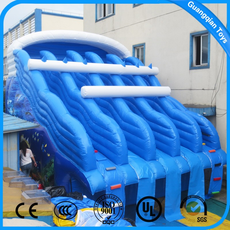 Guangqian New Design Giant Inflatable Water Slide For Swimming Pool