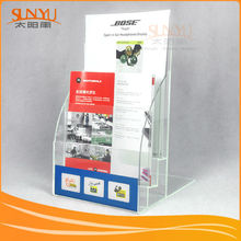 Professional Custom Acrylic Fridge Magnet acrylic brochure/ leaflet holder/display/organizer/display stand