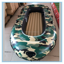 Military green inflatable boat with engine, PVC inflatble 4 persons boat with outboard electric motor