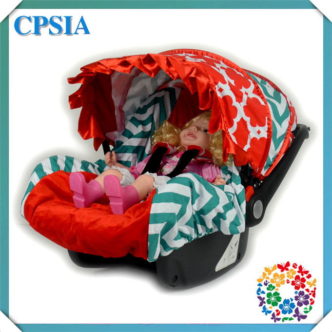 Lovely Infant Floral and Chevron Child Multicolor Baby Car Seats Covers with Shoulder Pad