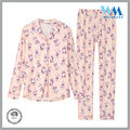 super soft O neck homewear ctn jersey pink pajamas
