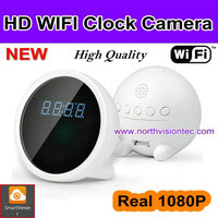 Very high quality wifi multi-function clock camera, 1080P clock radio hidden camera