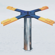 Single post car lift for car washing, chassis washing