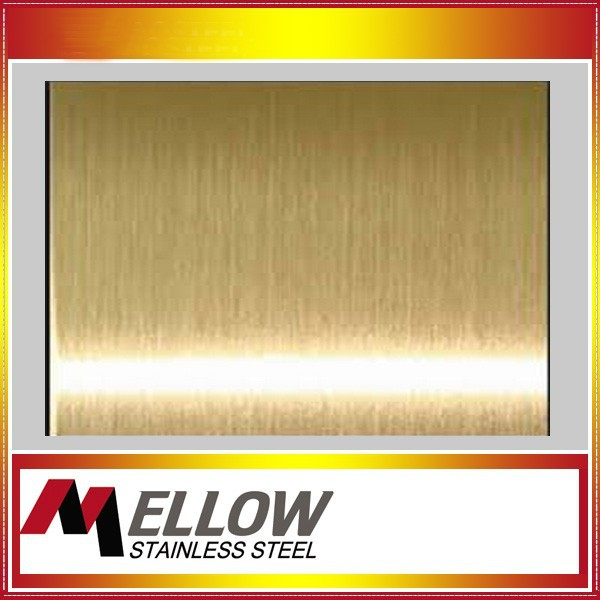 Mellow Cheap Price Hairline Gold Rose Black Stainless Steel Sheet In Foshan