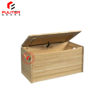 Wholesale high quality unfinished wood toy box