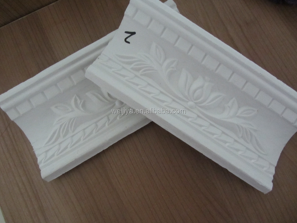 good quality gypsum / plaster cornice in Shandong