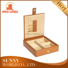 Pu Leather Watch Cufflink Box