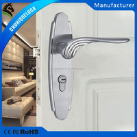 Low cost China original zinc alloy material door locks and handles for household