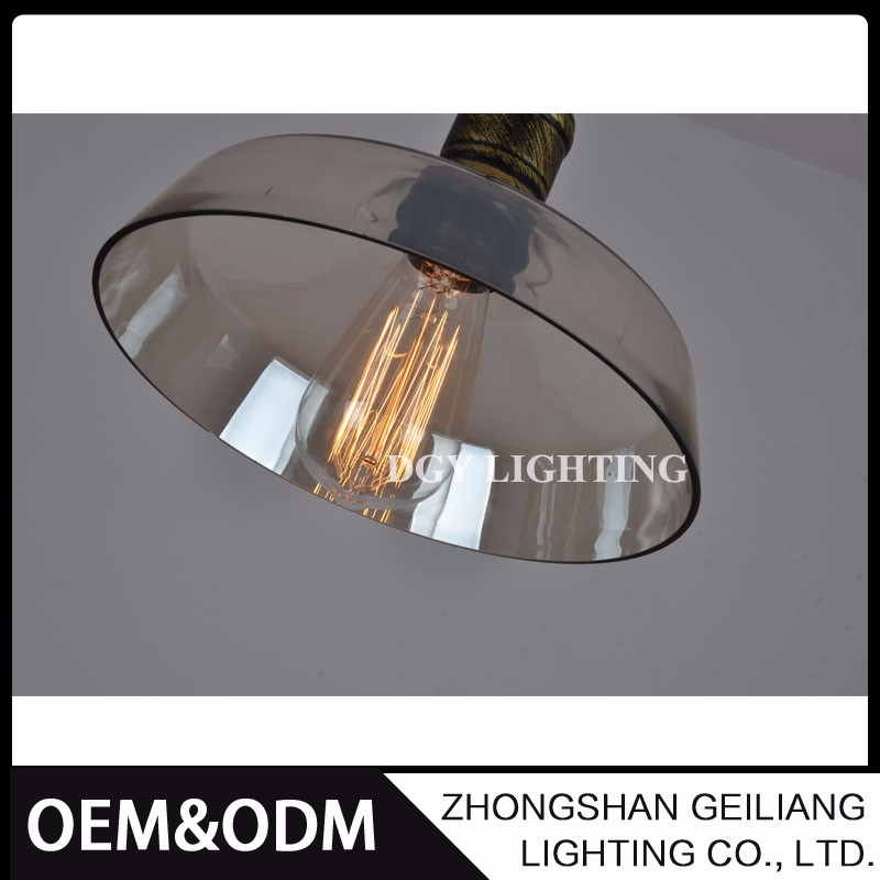 industrial retro vintage glass hanging pendant lamp with edison bulb for dinning room shop resturant