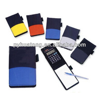 leather memo pad with calculator