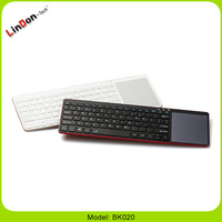 Universal Multimedia with dry battery portable wireless bluetooth keyboard with touchpads for PC/Tablet/Mobile Phone BK020