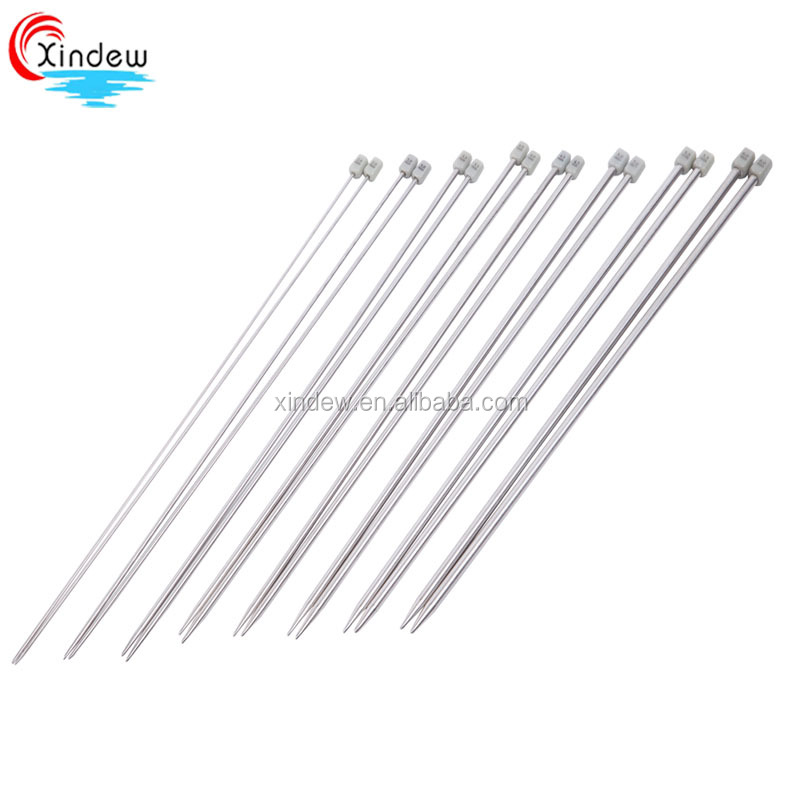 Stainless steel knitting needles (single point)