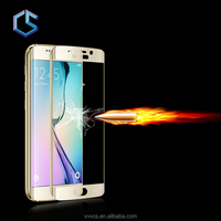 100% perfect fit clear anti-glare waterproof anti-reflection screen protector for galaxy s6 edge Mobile Phone accessories