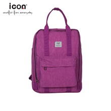 Promotional street personality solid color big bags backpack with many pockets