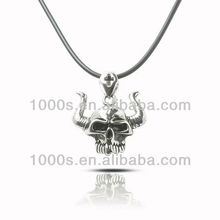 Wholesale Skull Bracelet Skull pendant with horn necklace Jewelry