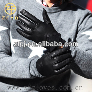 Fashion Wholesale Men Leather Glove Manufacturing