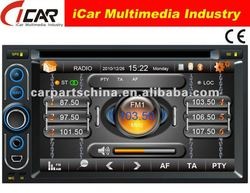 (iCar-6218)HOT Double Din 6.2'' touch screen,GPS,Bluetooth,TV,IPod radio car dvd 2 din