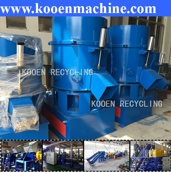Automatic agglomerate for plastic film with low price
