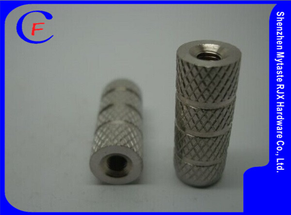 Hot selling copper alloy knurl M3*0.5 furniture wood insert nut by hardware factory