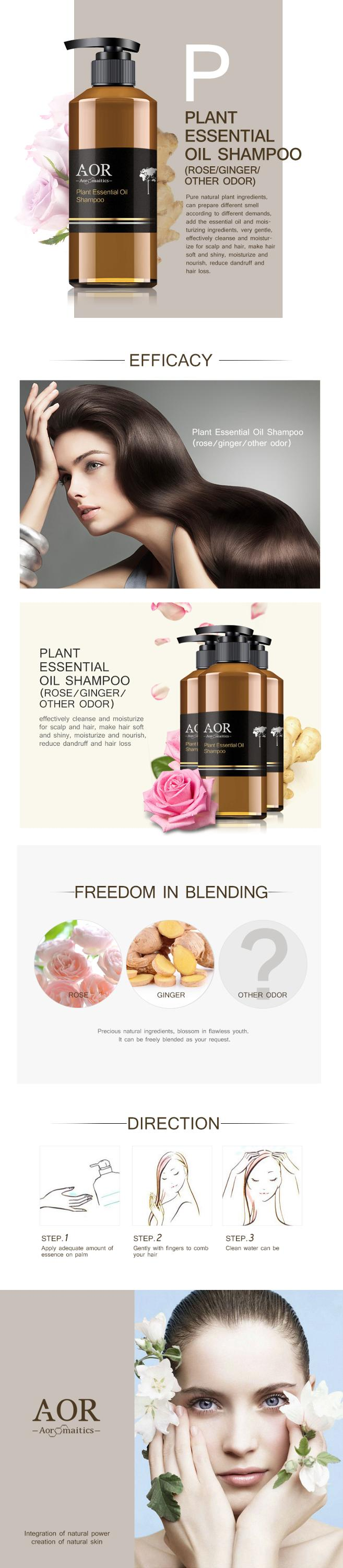 Manufacturers supply Plant Essential oil Anti-Dandruff Shampoo Oem/Odm treatment of hair loss and bifurcation