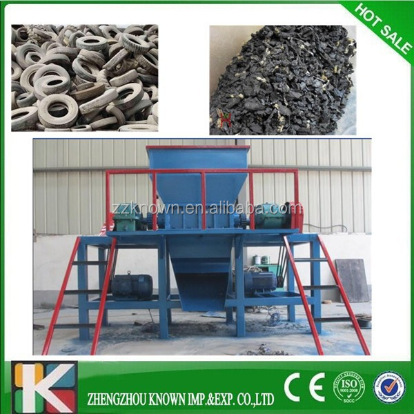 car tire crusher/used waste tire recycling machine/plastic tyre shredder and crusher grinder plant