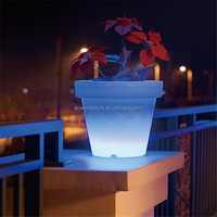 color changing luminous planters flower pot rock