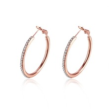 Fashion rose gold hoop earring