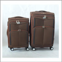 hot sale cheap strong classic style polyester material urban trolley luggage