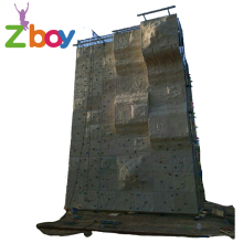 kids and adult used rock or fiberglass fun outdoor climbing wall panel wall climbing outdoor