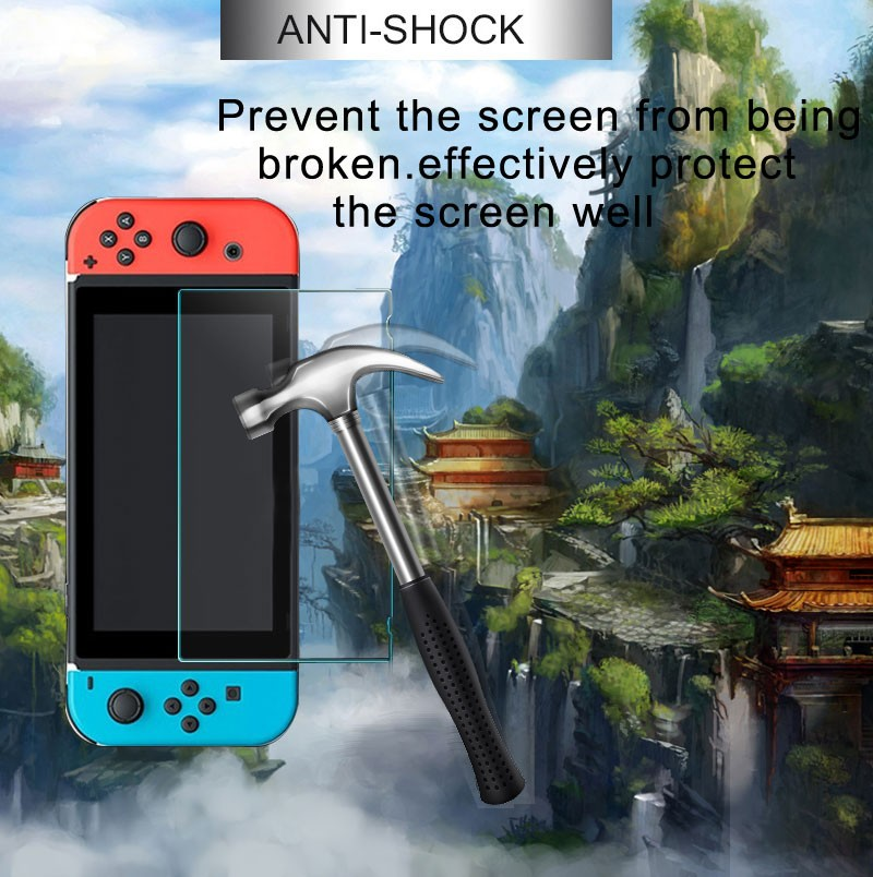 Shockproof Temperend glass guard for Nintendo switch screen protector protectived for Nintendo switch 2.5D glass film