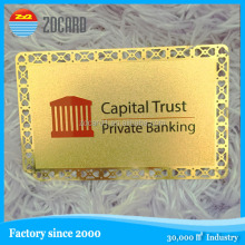 Die Casting Stamping Polishing golden metal name card