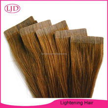 High Quality Silky Straight Tape Hair Extension Hot Sale Brazilian Hair Color #10