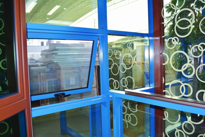 aluminum window frame and glass curtain wall