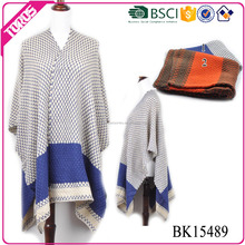 Toros BSCI certification fashion women winter knitted shawl