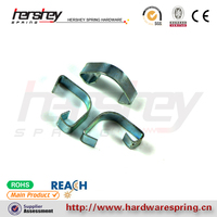 custom high quality blue zinc plated spring clip heavy duty holder clip spring manufacture in China