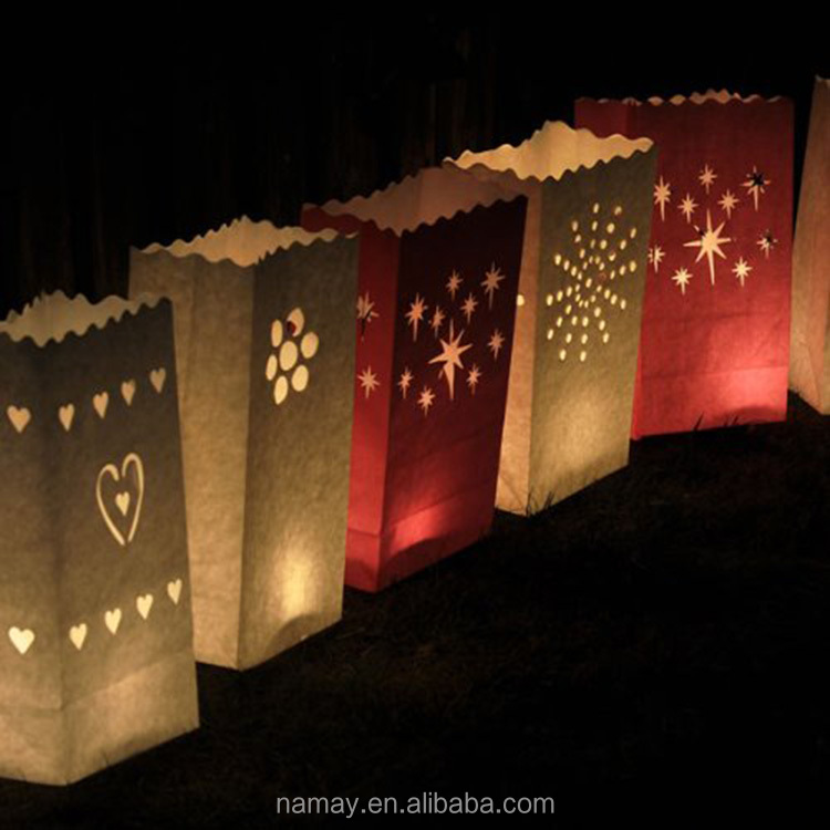 Wholesale wax paper candle bag luminaries