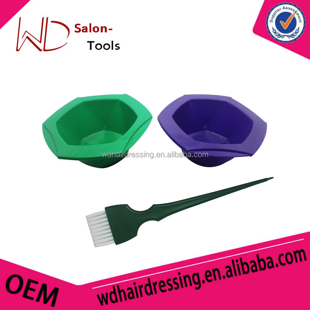 New hair color dyeing bowl tint bowls 7color available match tint brush hair deying sets