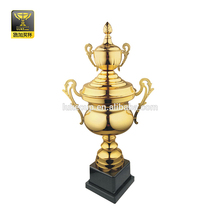 Factory price golden trophy cup custom big heavy soccer award