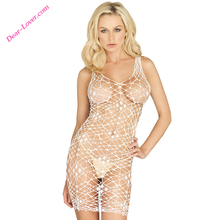 2018 New Arrival Women Sexy V-neckline Solid Bodycon Net Chemise For Wholesale