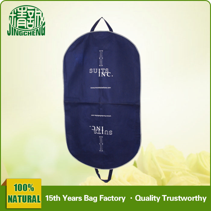Plastic Pocket Non Woven Material Garment Cover Bag with Zipper
