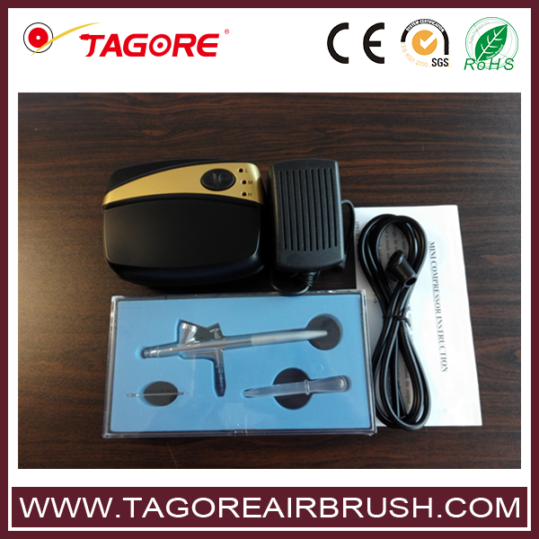 TG216K-01 airbrush for decorating cakes mini airbrush compressor kit temporary airbrush tattoo kit